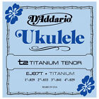 10 Sets DAddario EJ87T Ukulele T2 Titanium Tenor Strings Free US Shipping