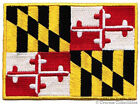 MARYLAND STATE FLAG embroidered iron on PATCH EMBLEM MD applique