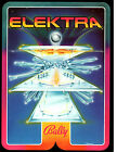 ELEKTRA Original PROMO Pinball Flyer BALLY 1981 GATEFOLD Brochure Ad Slick