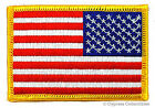 AMERICAN FLAG EMBROIDERED PATCH iron on REVERSED USA IRON ON UNIFORM LEFT FACING