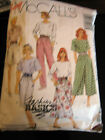 Vintage McCalls 5205 Misses Top Skirts  Pants Pattern Size 14
