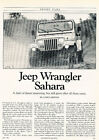1990 Jeep Wrangler Sahara - Driving Impression -  Classic Article H11