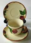Franciscan Earthenware Dinnerware Apple Pattern 3 Saucers-1 Cup-2 Dessert Plates