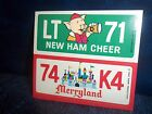 Wonder Bread Disney License Plate New Ham Cheer Merryland Disneyland
