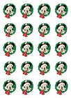 20 DISNEY CHRISTMAS NAIL DECALS * MICKEY with WREATH *  WATER SLIDE NAIL DECALS