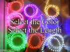 Cool White or Choose Color LED Rope Lights Up to 150 feet Lighting 3 8 in