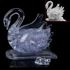 3D Crystal Puzzle Jigsaw IQ Toy Gift Souptoy Model DIY Swan Furnish Gadget