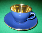 Royal Copenhagen CONFETTI Royal Blue Cup & Saucer Gilded Bowl 1950's