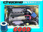 BLACK BLUE NEW 90 93 GEO STORM ISUZU IMPULSE 16 16L 18 18L I4 AIR INTAKE KIT