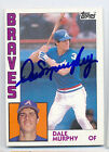 1984 Topps #150 DALE MURPHY Autographed card BRAVES