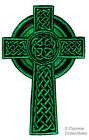 CELTIC CROSS GREEN iron on PATCH embroidered IRISH CHRISTIAN RELIGIOUS EMBLEM