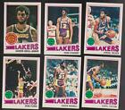 1977 78 Topps Team SET Lot of 6 Los Angeles LAKERS NM MT KAREEM CHANEY WILKES