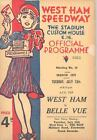 1937 West Ham Speedway Motorcycle Race Program England July 13 55616-TIYS3X