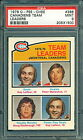 1976 77 OPC #388 LAFLEUR MAHOVLICH CANADIENS TEAM LEADERS PSA 9 MINT!!
