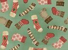 VIP Homespun Holiday by Christine Adolph 45734 Q Dusty Teal Stockin FREE US SHIP