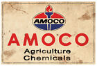 AMOCO AGRICULTURE CHEMICALS  RUSTIC  TIN SIGN  20 x 30 cm