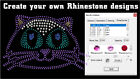 Strass Rhinestone template Software CUT with Silhouette CAMEO die cutter