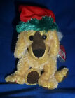 TY BEANIE BABY JINGLE PUP DOG HOLIDAY BEANIE BABY~NEW~NWMT~CHRISTMAS PUPPY~2000