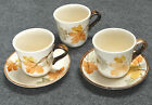 VINTAGE FRANCISCAN INTERPACE OCTOBER CUPS AND SAUCERS