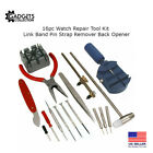 Gadgets Collection 16pc Watch Repair Kit Band Pin Strap Link Remover Back Opener