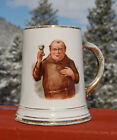 Antique - IMPERIAL LIQUOR Co - Pike Street SEATTLE - pottery MONK decorated MUG