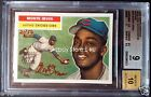 2005 Topps Heritage MONTE IRVIN Red Ink 21 56 Autograph BGS 9 Mint 10 Auto 1 2