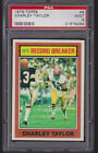 1976 Topps #8 CHARLEY TAYLOR '75 Record Breaker PSA 9 MINT Washington REDSKINS