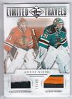 2012-13 Panini Limited Travels Antti Niemi Dual Jersey Prime #14 49