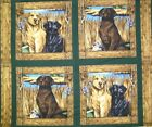 Springs It's a Dog's Life Pillow Panel Cotton Fabric BTY FREE US SHIP