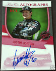 2012 Press Pass FanFare JUSTIN LOFTON SP Auto Certified Racing Autograph # 28 75