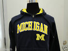 New Youth All Sizes Michigan Wolverines Blue Full Zipper Hooded Sweatshirt
