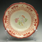 Rare 1940 Red Clover Stenciled Homer Laughlin Virginia Rose Pottery Serving Bowl