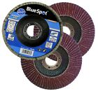 FLAP DISCS 115mm SANDING 40 60 80 120 GRIT GRINDING WHEELS BLUE SPOT 4.5