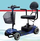 4 Wheel Roo Travel Mobility Scooter Compact Small Red Blue Transport Medical