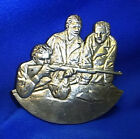 Vintage German Aluminium Wall Ornament Decorative Gunmen Motive #L