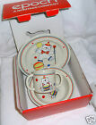 EPOCH CIRCUS BEAR NEW CHILDS 3 PC. SET HANDLED MUG CEREAL BOWL & PLATE