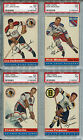 Lou Jankowski 1954-55 Topps Hockey #28 PSA 6 Chicago Black Hawks Card