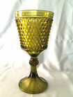Retro, Vintage, Indiana Glass, Diamond Point, Footed Urn, Green, No Lid included