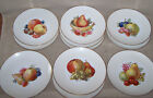 Vintage Epiag Czechoslovakia 11 Fruits Nuts Center Design Plates - 8 3/4
