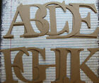 4 inch Serif style uppercase raw chipboard alphabet 26 pieces one of each letter