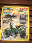 90S VINTAGE GI GI Joe KO MILITARY FORCE ACTION FIGURE BIKE SET 375 MOC