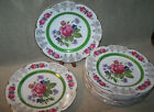 Ascot 12 Service Plates Wood & Sons England Alpine White Ironstone Rose Design