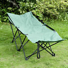 Portable Camping Bed Cot Hammock Adventure Camp Sleeping Cot Folding Steel w Bag