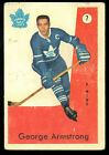 1959 60 PARKHURST #7 GEORGE ARMSTRONG VG-EX TORONTO MAPLE LEAFS HOCKEY CARD
