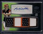 2011 Andy Dalton Topps Prime Level 5 Rookie RC 2-clr 4x Jersey Auto 515