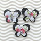 US SELLER 60 x 1 Padded 2 Layer Felt Floral Flower Butterfly Appliques ST416K