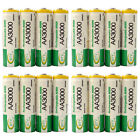 16 x AA 2A 3000mAh Ni-MH 1.2V Volt Rechargeable Battery Green BTY LR06 HR6