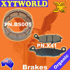 FRONT REAR Brake Pads Shoes for Suzuki TU 250 Grass Tracker Big Boy 2000-2001