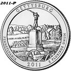 2011 P GETTYSBURG UNCIRCULATED NATIONAL PARK QUARTER I HAVE ALL ATB QUARTERS