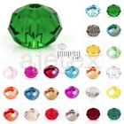 150x Crystal Czech Loose Glass Beads 3x4mm Rondelle Faceted Jewelry Making